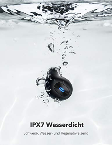 TaoTronics SoundLiberty 77 - Auriculares inalámbricos por Bluetooth 5.0, Resistentes al Agua IPX7, Sonido estéreo Hi-Fi, autonomía de 20 Horas, con micrófono Integrado