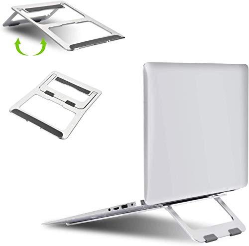 Soporte portátil ajustable de aleación de aluminio para ordenador portátil, soporte ergonómico y plegable compatible con Apple MacBook Air Pro, Dell, HP, Thinkpad, Tablet L0828