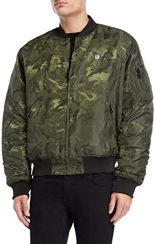 Cult of Individuality Men's Camouflage Reversible Bomber Jacket Size M