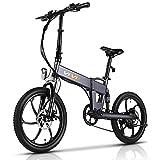 VIVI Z1 E-Bike for Adults, 20'' Folding Electric Bike for Adults, 20Mph Electric Bicycle with 36V 10.4Ah Lithium-Ion Battery, 350W Motor and Shinmano Professional 6 Speed Gears