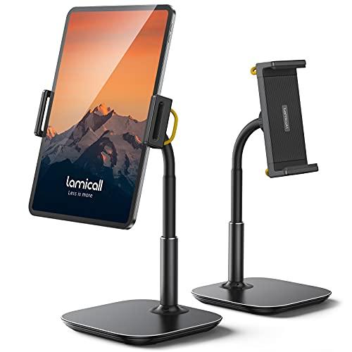 "Tablet Stand Holder, Gooseneck Tablet Mount - Lamicall 360 Degree Rotating Adjustable Desktop Stand for 4.7""-12.9"" iPhone, iPad Air Mini Pro 10.2/9.7, Kindle, Nexus, Tab, Galaxy, eBook Reader - Black"