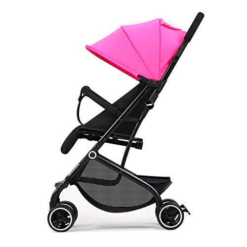 Carrito de bebe El cochecito de bebé ligero y con estilo Alto paisaje puede sentarse y poner el cinturón de seguridad de cinco puntos Cochecito de bebé Cochecito/Silla Paseo (Color : Red)