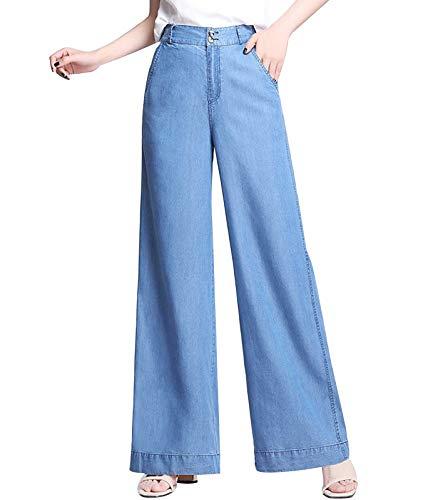 YIFF Brede Been Broek voor Vrouwen Jeans Dames Zomer Broek Elastische Taille