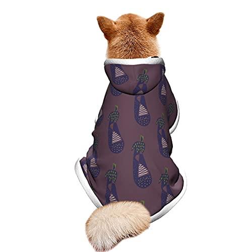 Berenjena 11 disfraz de mascota con capucha ajustable para cachorro, disfraz de fiesta o fiesta