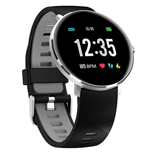 Rastreador de ejercicios reloj elegante, inteligente Reloj Hombres Mujeres ECG Heart Rate Measure impermeable IP68 de llamada de alarma recordatorio de control de música Bluetooth SmartWatch,A1