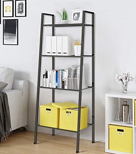 WillingHeart Ladder Shelf 4-Tier Bookshelf Plant...