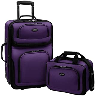 Rio Carry-on Lightweight Expandable Rolling Luggage Suitcase Set