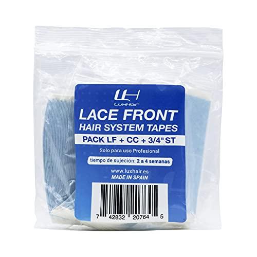 Cintas Adhesivas para prótesis capilares y extensiones de pelo de hombre o mujer Lace Front de LuxHair. Pack 3 | 36 unidades de cada una | | Rectas-LF-CC | ⭐