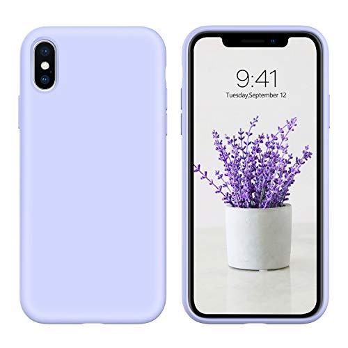 "DUEDUE Coque iPhone XS Max, Silicone Liquide Douce Rigide Antichoc Micrifibre Protection Téléphone iPhone XS Max 6.5"""