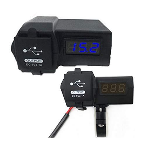 GOFORJUMP Car-Styling 12V / 24V Étanche Voiture Moto Double USB Chargeur LED Voltmètre de Voiture Allume-Cigare Prise