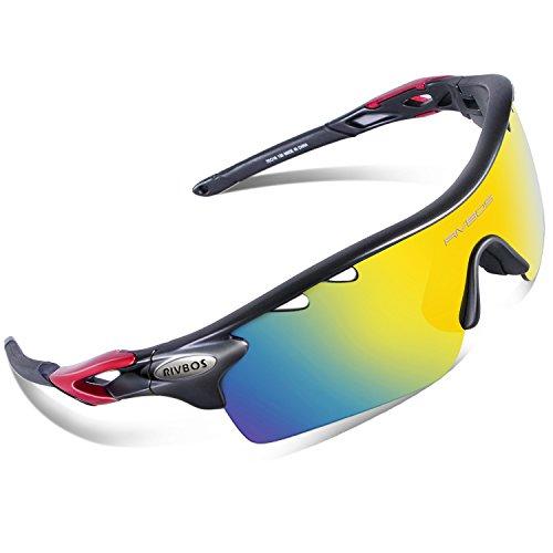 MEKBOK 801 POLARIZED Sports Sunglasses with 5 Interchangeable Lenses