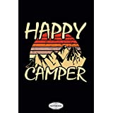Happy Camper Notebook: 6x9 120 Pages, Diary, Journal, Matte Finish Cover, Lined College Ruled Paper, Planner