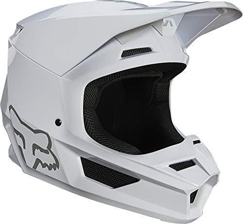 Fox Racing Mens V1 Motocross Helmet,White - Plaic,Large