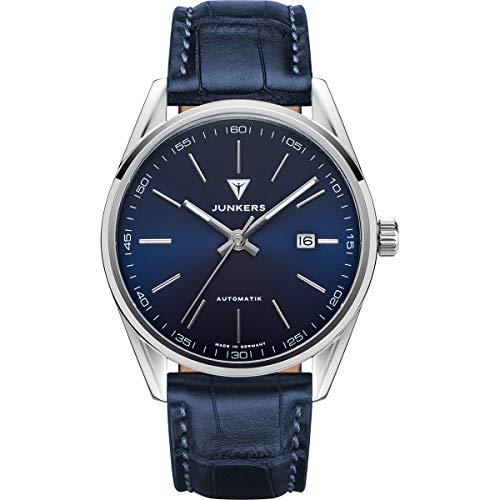 Junkers Professor Analog Automatik Uhr Lederarmband Saphirglas blau 9.31.01.01