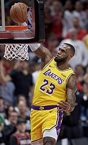 Lebron James Dunk Poster 24 x 36 LA Lakers