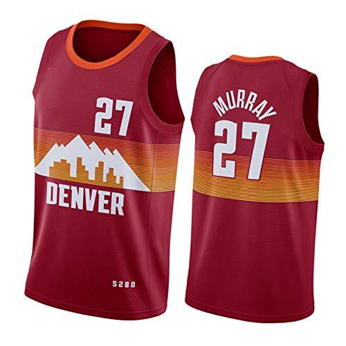 CLKI 2020-2021 Temporada Nuggets # 15 Jokic Y # 27 Murray Basketball Jersey, Sweatshirt De Swing De Secado Rápido De Los Hombres (S-2XL) #27-XL