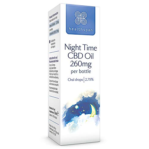 Healthspan Night-Time CBD Oil Drops, 260 mg