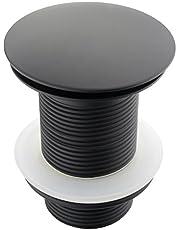 ATCO® PU22 Pop-Up Klep Afvoergarnituur Excentrische Afvoer Klikventiel Sifon Wastafel Stop zonder overloop zwart