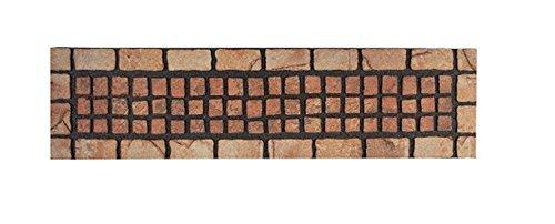 Stufenmatte - Treppen Matte-Schmutzfangmatte - Fußmatte - Fussmatte - Fußabstreifer - Fußabtreter - Schmutzmatte Modell Wood - Ziegel - Mosaik - terracotta - witzig lustig 3D 3 D Optik ca. 23 x 88 cm