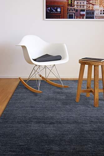 floor factory Gabbeh Teppich Karma anthrazit grau 140x200 cm - handgefertigt aus 100% Schurwolle