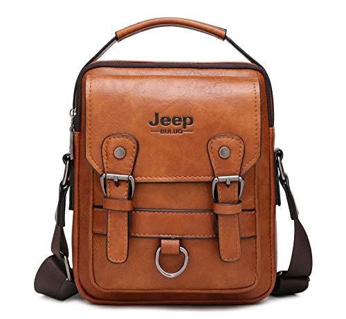 JEEP BULUO Men Messenger Bag Casual Crossbody Handbag Daypack For iPad mini(Orange)