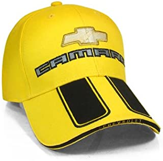 Chevrolet New Camaro Rally Stripe Yellow Baseball Cap
