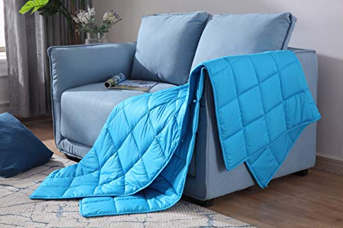"GSLE Weighted Blanket (Sky Blue, 50""x60"" 10 lbs)"