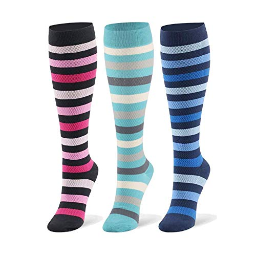 Kompressionsstrümpfe Sneaker Socken Herren Damen Laufsocken Sprunggelenkschutz und Mittelfußstütze für Laufen Radfahren Erholung Blutzirkulation