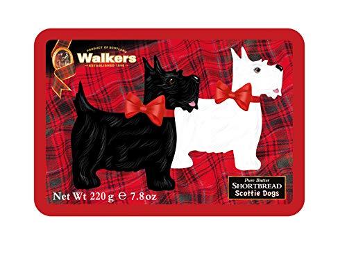 Walkers Shortbread Scottie Dog Shaped Shortbread Cookies Gift Tin, 7.8 Ounce