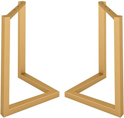 KISNAD Patas de gabinete Muebles de pies 2X Mesa de Metal Patas de Altura 68cm Piernas de Muebles Decorador rústico Marco de Mesa de Acero en Forma de V (Color : Gold, Size : 50x68cm/19.7x26.8in)