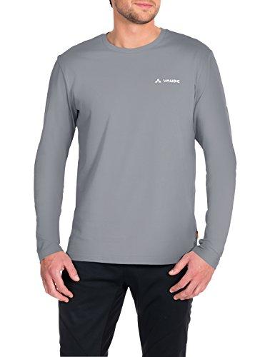 VAUDE Brand Longsleeve Shirt Homme Sweatshirt, Grey-Melange, FR : S (Taille Fabricant : S)