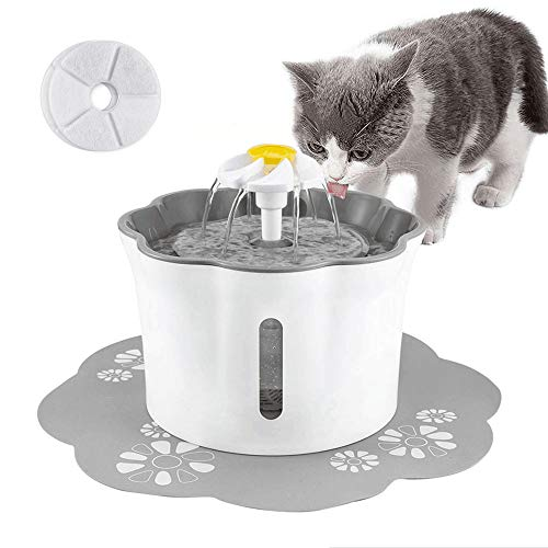 Shinea Cat Water Fountain Dog Water Dispenser with 2 Replacement Filters,Pet Fountain Drinking Bowl for Cats,Dogs,Multiple Pets
