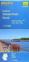 Radkarte Niederrhein Nord (RK-NRW03): Bocholt - Duisburg - Wesel - Kleve - Moers - Xanten - Maas - Rhein - Lippe
