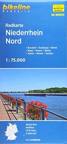 Radkarte Niederrhein Nord (RK-NRW03): Bocholt – Duisburg – Wesel – Kleve – Moers – Xanten – Maas – Rhein – Lippe (Bikeline Radkarte)
