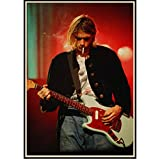 Vintage Musik Poster Kurt Cobain Rock Vintage Leinwanddruck