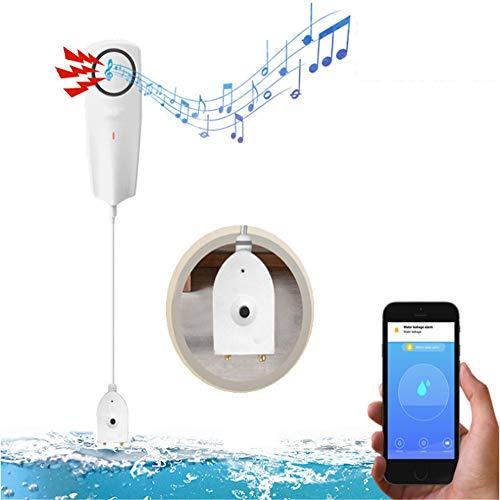 YSYDE Alarma y Sensor de Fugas WiFi, minimice el daño por Agua y reduzca la Necesidad de Reparaciones costosas, pequeñas y compactas para una fácil colocación, para Lugares como Casas de Vacaciones