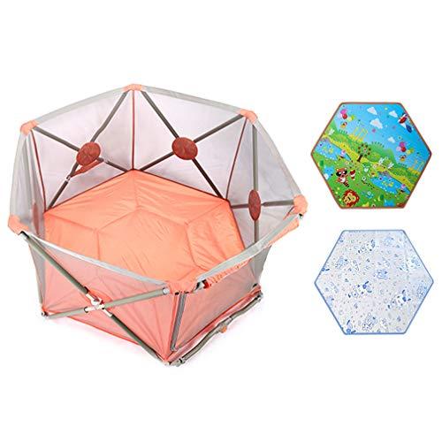 Draagbare Baby Ball Pit Tent Playpen - met bal, Crawling Mat, Cool Mat, Deur - Peuter Opvouwbare Speelplaatsen Hek, Binnen Buiten Veiligheidspoorten voor Kinderen Activiteitscentrum