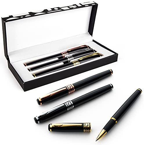 Special Supplies 3 Pack Weighted Pens for Hand Tremors, Low Dexterity, Poor Grip Strength, and Parkinson's Patients, Writing Aid for Kids and Elderly Adults, Storage Box Included