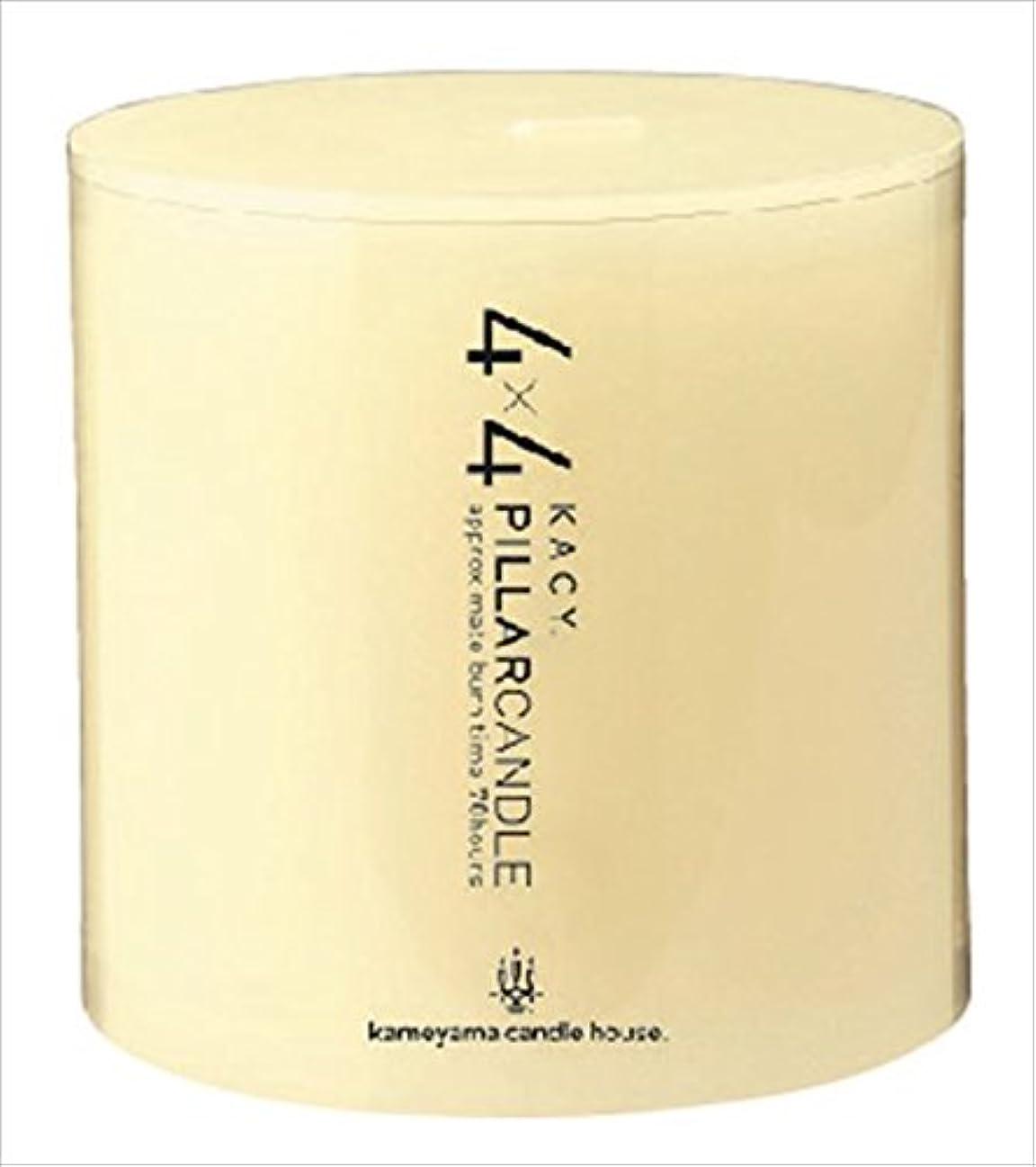 マインドフルいつすばらしいですカメヤマキャンドル( kameyama candle ) 4×4ピラーキャンドル 「 アイボリー 」