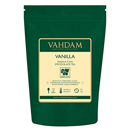 VAHDAM, Vanilla Spiced Masala Chai | 3.53oz (50 Cups) | STRESS RELIEVING & REFRESHING | Masala Chai Tea | Delicious Blend Of Vanilla Tea | Spiced Chai Tea Loose Leaf | Brew As Hot, Cold or Iced Tea
