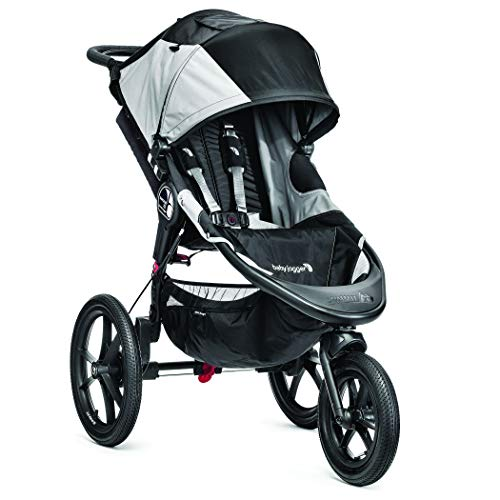Baby Jogger Summit X3 All-Terrain Pushchair | Foldable 3-Wheel Exercise Stroller | Black/Grey