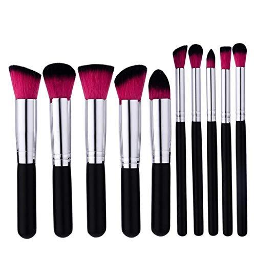 10pcs Faire Eyeliner Up Foundation Sourcils fard à joues cosmétiques Correcteur Brosses Pinceaux cosmétiques Set Matériel fiable (Handle Color : As shown)