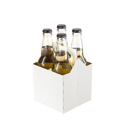 4Stück Karton Bier Flaschenträger für 12Unze Flaschen (50Stück) 4 Pack weiß