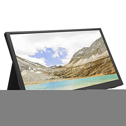 Monitor portátil 1080P, pantalla de consola de juegos portátil con pantalla ultrafina HD IPS de 15,6 pulgadas, pantalla dividida HDMI tipo C para computadora con resolución de 1920x1080, para PS / par