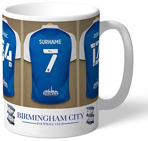 Personalised Birmingham City FC Dressing Room Shirts Mug