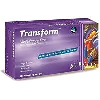 Transform Guantes de Nitrilo Sin Polvo, Caja de 200 Piezas, Azul, Talla S