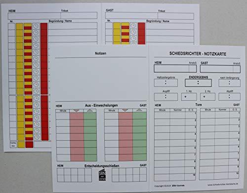 50 St. DIE PERFEKTE 4-seitige SPIELNOTIZKARTE, fürs DFBnet und Pokalspiele; inklusive bis zu 7 Auswechslungen pro Team und der Disziplinarstrafe in der Tech.Zone. *50 Stück*
