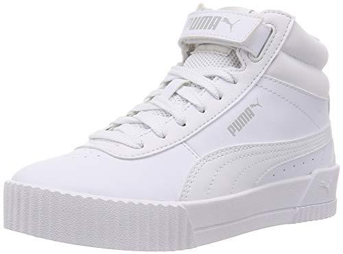 PUMA Carina Mid, Zapatillas Mujer, Blanco White White, 39 EU
