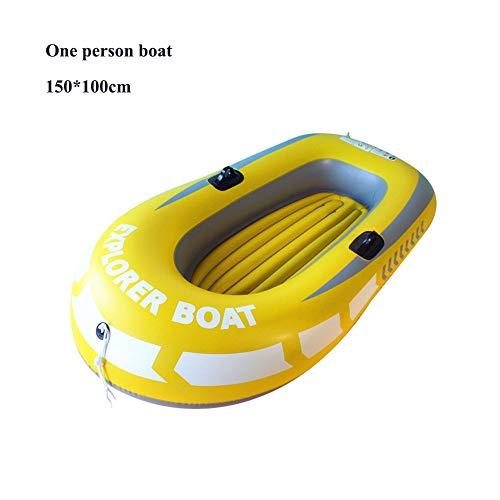 yalatan Canoa de Kayak Inflable Resistente al Desgaste Grueso, 1/2 Persona Pesca Deriva Buceo Natación Deportes acuáticos Bote Inflable Kayak Canoa Balsa