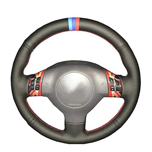 MDHANBK Funda para volante de coche cosida a mano, para Suzuki Swift Sport 2005-2011 / Splash 2007-2015